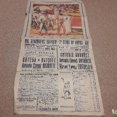 Tauromaquia: TAUROMAQUIA...CARTEL DE CORRIDA DE TOROS...BURGOS. 1955......... Lote 134286874
