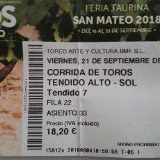 Tauromaquia: ENTRADA PLAZA DE TOROS DE LOGROÑO. Lote 134286938