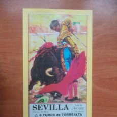 Tauromaquia: CARTEL. SEVILLA. 30-ABRIL-1993. JOSELITO, LITRI Y JESULIN DE UBRIQUE.. Lote 134453258