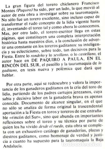 Tauromaquia: DE PAQUIRO A PAULA EN EL RINCÓN DEL SUR - INTERPRETACIÓN HISTÓRICA DE UNA TAUROMAQUIA ESENCIAL - VER - Foto 2 - 134475670