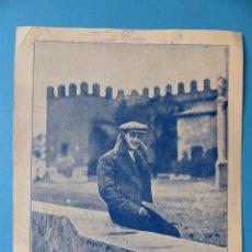 Tauromaquia: A LA MEMORIA DE MANUEL GRANERO - PROGRAMA RECUERDO DEL CIRCULO TAURINO - VALENCIA 30 JULIO 1922. Lote 135103746