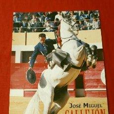 Tauromaquia: FOTO TORERO REJONEADOR - JOSE MIGUEL CALLEJON - 17 X 24 CM - TOROS REJONEO. Lote 135241526