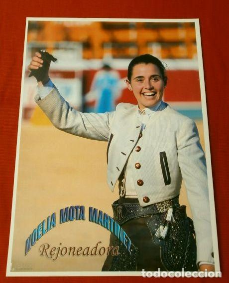FOTO TORERO REJONEADOR - NOELIA MOTA MARTINEZ - 14 X 18,5 CM - TOROS REJONEADORA (Coleccionismo - Tauromaquia)