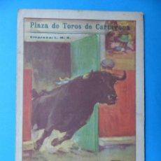 Tauromaquia: BONITO PROGRAMA TOROS - CARTAGENA AÑO 1946 - FERMIN RIVERA, LUIS M. DOMINGUIN, RAFAEL LLORENTE. Lote 135339886