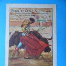 Tauromaquia: BONITO PROGRAMA TOROS - ALICANTE HOGUERAS DE SAN JUAN AÑO 1954 - J. APARICIO, C. GIRON, CHICUELO II. Lote 135341622