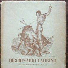 Tauromaquia: DICCIONARIO TAURINO - IDELFONSO MULAS PEREZ VOCABULARIO LEGISLATIVO Y JERGAL. Lote 135624562