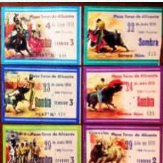 Tauromaquia: AÑO 1978.- 7 ENTRADAS PZA.TOROS DE ALICANTE DIFERENTES DIAS Y EN REV. LOS ESPADAS CON LOS RESULTADOS. Lote 135950018