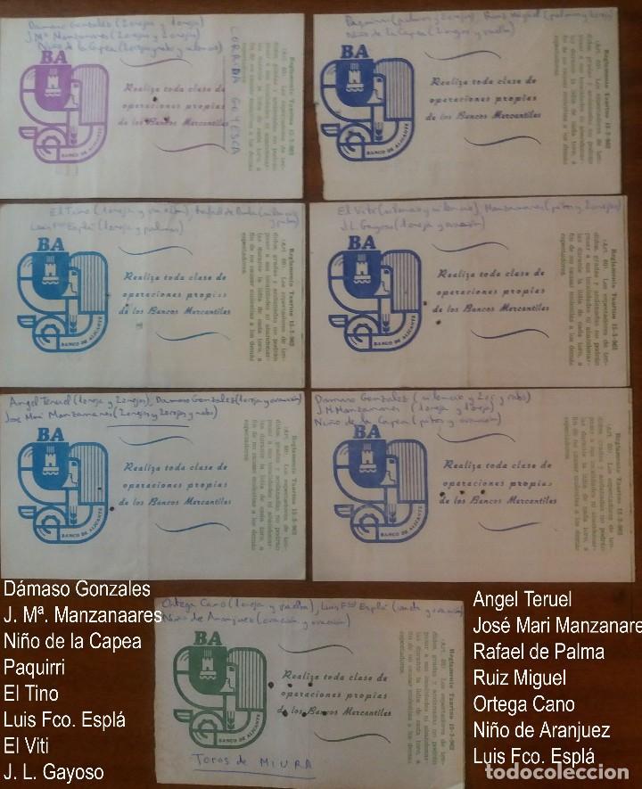 Tauromaquia: AÑO 1978.- 7 ENTRADAS PZA.TOROS DE ALICANTE DIFERENTES DIAS Y EN REV. LOS ESPADAS CON LOS RESULTADOS - Foto 2 - 135950018