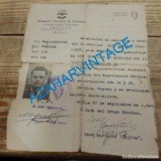 Tauromaquia: SEVILLA, 1948, FALANGE, AUTORIZACION APRENDIZAJE DIEZ CORRIDAS DE NOVILLOS, RARISIMO DOCUMENTO. Lote 136043622