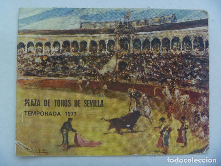 ENTRADA PLAZA DE TOROS DE SEVILLA ( REAL MAESTRANZA ) : ABONO TEMPORADA 1977 . TENDIDO SOL (Coleccionismo - Tauromaquia)