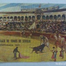 Tauromaquia: ENTRADA PLAZA DE TOROS DE SEVILLA ( REAL MAESTRANZA ) : ABONO TEMPORADA 1977 . TENDIDO SOL. Lote 136171826