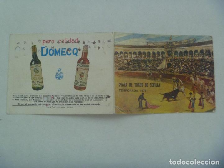 Tauromaquia: ENTRADA PLAZA DE TOROS DE SEVILLA ( REAL MAESTRANZA ) : ABONO TEMPORADA 1977 . TENDIDO SOL - Foto 3 - 136171826