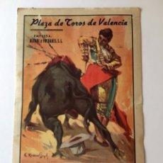 Tauromaquia: PROGRAMA TOROS, PLAZA VALENCIA FERIA 1945 , ARRUZA ORTEGA MARTIN VAZQUEZ , ORIGINAL. Lote 136683054