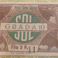 Tauromaquia: SEVILLA, 12 OCTUBRE 1948, ENTRADA TOROS REAL MAESTRANZA. Lote 136732902
