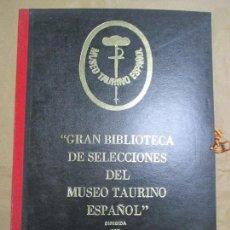 Tauromaquia: GRAN BIBLIOTECA DE SELECCIONES DEL MUSEO TAURINO ESPAÑOL. Nº 707. 4 TOMOS + DIPLOMA 1977. VER FOTOS. Lote 136775602