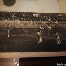 Tauromaquia: MONTES ENTRANDO A MATAR. 1905. Lote 137376541