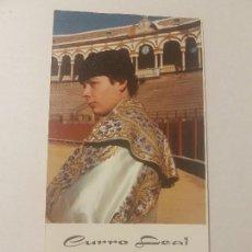 Tauromaquia: CURRO LEAL, SEVILLA 1981, TARGETA DE FELICITACIONES.. Lote 137468866