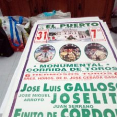 Tauromaquia: CARTEL DE TOROS. EL PUERTO DE SANTA MARIA. JULIO 1994. J LUIS CALLOSO. JOSELITO. FINITO DE CORDOBA. Lote 138182950