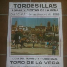 Tauromaquia: TORO DE LA VEGA TORDESILLAS VALLADOLID.1988. Lote 138831714