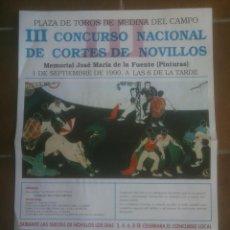 Tauromaquia: MEDINA DEL CAMPO CORTES DE NOVILLOS.1990. Lote 138831794