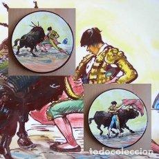 Tauromaquia: 2 PLATOS DE CERÁMICA PLATART PINTADOS A MANO CON ESCENAS TAURINAS. Lote 139759342