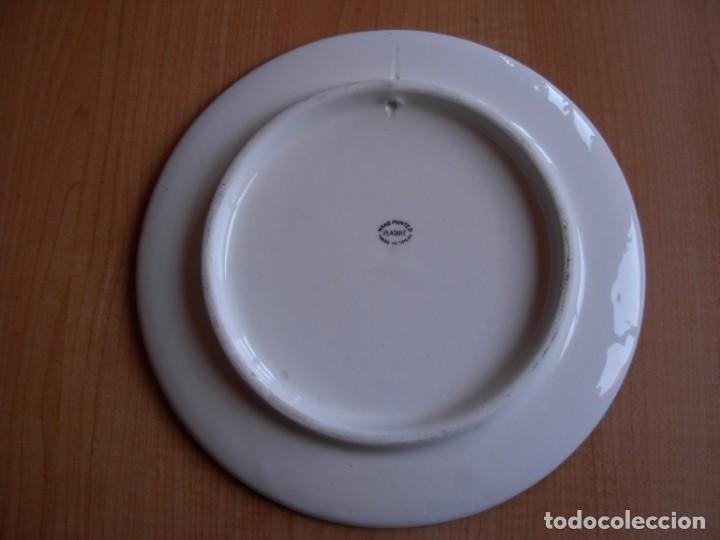 Tauromaquia: 2 platos de cerámica platart pintados a mano con escenas taurinas - Foto 17 - 139759342