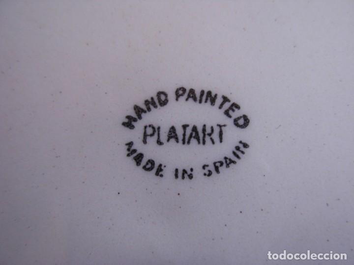 Tauromaquia: 2 platos de cerámica platart pintados a mano con escenas taurinas - Foto 18 - 139759342