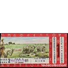 Tauromaquia: ENTRADA PLAZA DE TOROS DE GIJÓN. 9 AGOSTO 1970. Lote 107036687