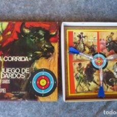 Tauromaquia: JUEGO DE DARDOS - LA CORRIDA - FABRICADO POR INDIAN BARCELONA. Lote 143007198