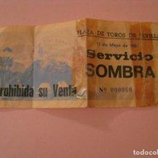 Tauromaquia: ENTRADA DE TOROS. SEVILLA. 17 MAYO 1987. DETRÁS ESCRITA. ROTA Y REPARADA CON CELO.. Lote 143887730