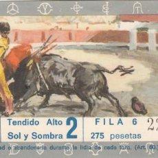 Tauromaquia: ENTRADA PLAZA TOROS DE LORCA 1972 / CORRIDA DE TOROS. Lote 144228934