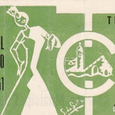 Tauromaquia: ENTRADA PLAZA TOROS VISTA ALEGRE DE BILBAO 1961 / XXVIII FESTIVAL CLUB TAURINO. Lote 144232466