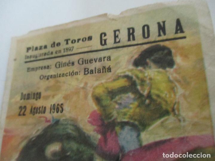 Tauromaquia: Pequeño Tríptico Plaza de Toros Gerona, Girona - Agosto 1965 - Foto 3 - 145467502