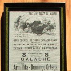 Tauromaquia: MANOLETE Y SILVERIO PÉREZ EN MADRID 1945. CARTEL ORIGINAL.. Lote 146766890