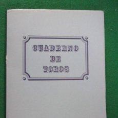 Tauromaquia: CUADERNO DE TOROS DE LA FERIA DEL PILAR 1991 / SALGAR. Lote 146978822