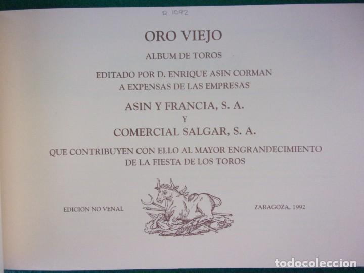 Tauromaquia: ORO VIEJO. ÁLBUM DE TOROS. / 1992. Salgar - Foto 2 - 146981150