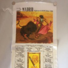 Tauromaquia: CARTEL TAURINO - PLAZA DE TOROS MADRID - FERIA S ISIDRO MAYO 1966. Lote 147073096