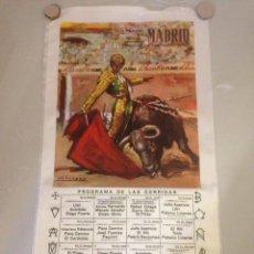 Tauromaquia: CARTEL TAURINO - PLAZA DE TOROS MADRID - FIESTA DE S ISIDRO 1967. Lote 147074434