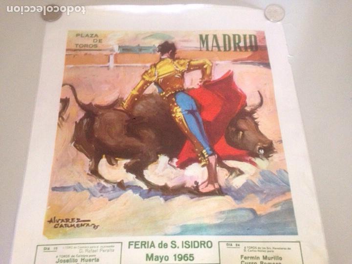 Tauromaquia: CARTEL TAURINO - PLAZA DE TOROS MADRID - FERIA S ISIDRO MAYO 1965 - Foto 3 - 147077362
