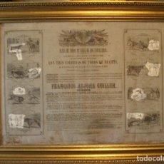 Tauromaquia: CARTEL ORIGINAL INAUGURACIÓN P. DE T. DE JEREZ DE LOS CABALLEROS. 1862. Lote 147347962