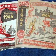 Tauromaquia: MANOLETE EN LAS VENTAS. 11 PROGRAMAS DE MANO ORIGINALES.. Lote 147379470