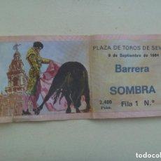 Tauromaquia: ENTRADA PLAZA DE TOROS DE SEVILLA , BARRERA SOMBRA . 1984. Lote 147487974