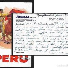 Tauromaquia: POSTAL RUANO LLOPIS * TOROS EN PERÚ * PANAGRA 1957. Lote 147562622