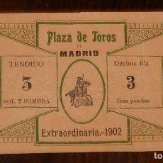 Tauromaquia: ENTRADA DE LA PLAZA DE TOROS DE MADRID, EXTRAORDINARIA AÑO 1902, TAL Y COMO SE VE EN LAS FOTOGRAFIAS. Lote 147961646