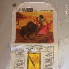Tauromaquia: CARTEL TAURINO - PLAZA DE TOROS MADRID - FERIA DE S ISIDRO 1966. Lote 154723740