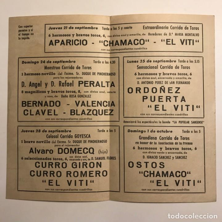 Tauromaquia: 1961 Programa de las fiestas de la Merced Plaza de toros Monumental de Barcelona 12x21 cm - Foto 3 - 148831806