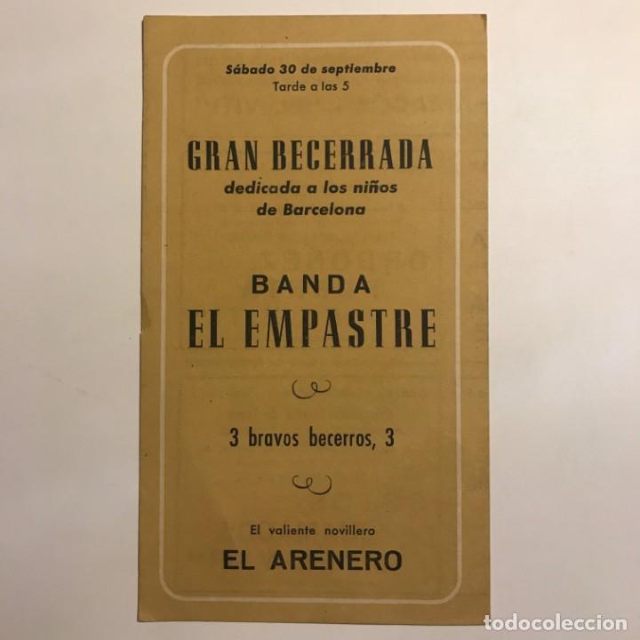 Tauromaquia: 1961 Programa de las fiestas de la Merced Plaza de toros Monumental de Barcelona 12x21 cm - Foto 4 - 148831806