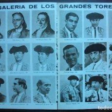 Tauromaquia: GALERIA DE LOS GRANDES TOREROS. ( CON 18 TOREROS). Lote 149218010