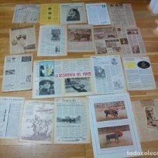 Tauromaquia: COLECCION DE RECORTES DE PRENSA Y REVISTAS DE TOROS JUAN BELMONTE VER TODAS LAS FOTO. Lote 149359214