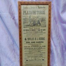 Tauromaquia: CARTEL TAURINO. CORRIDA DE TOROS BARBASTRO 1894. Lote 149408145